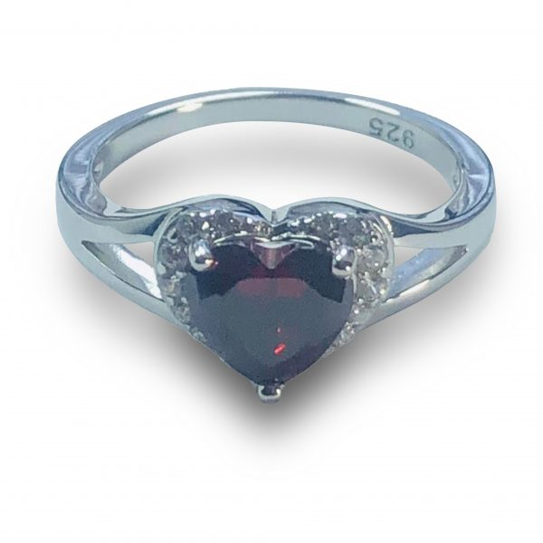 21RL102MJT-Sterling-Silver-Heart-shape-Garnet-CZ-Ring-105-2