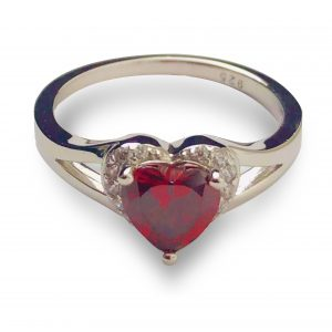21RL103MJT-Sterling-Silver-Heart-shape-Garnet-CZ-Ring-105